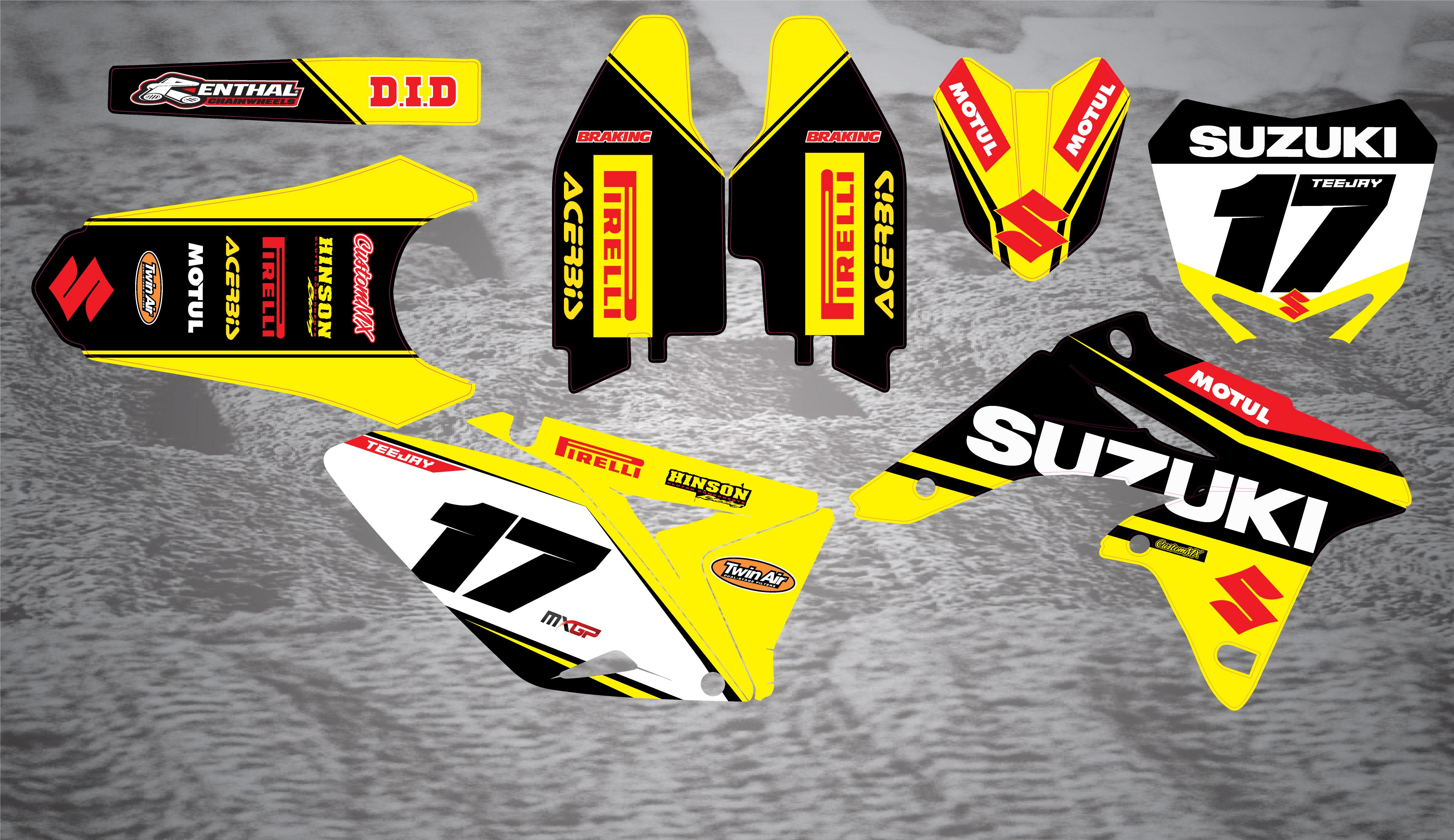 Factory Series Suzuki RM RMZ Graphics Kit Custom MX The Home