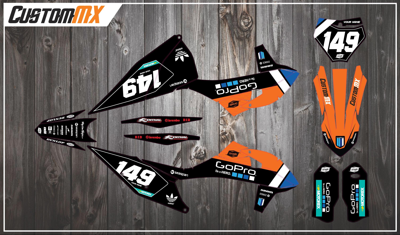 GoBlack Series – KTM SX/SXF/EXC/EXC-F Graphics Kit – Custom